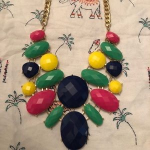 Multi Colored statement necklace